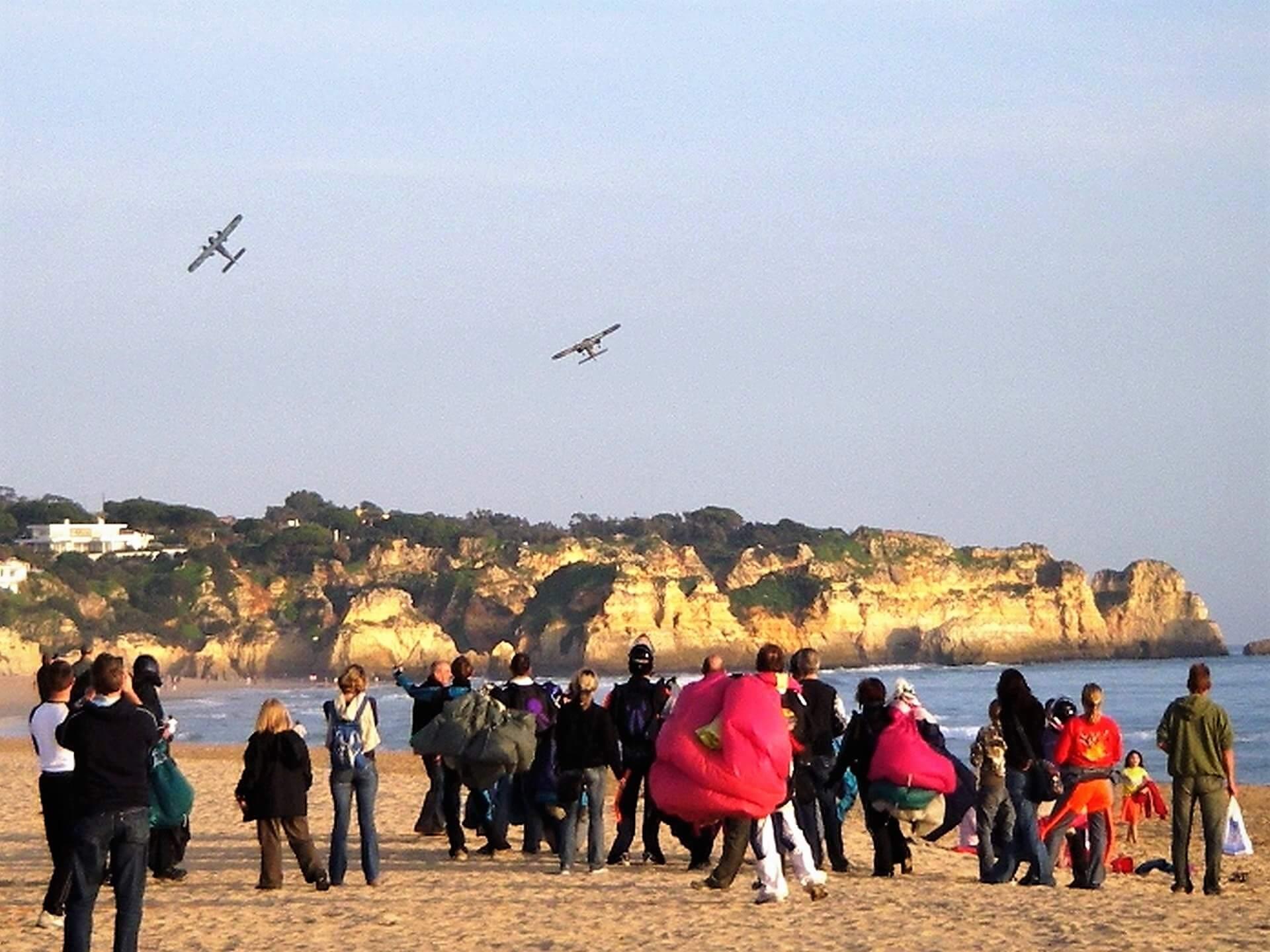 Algarve Luftereignis Strandspringen