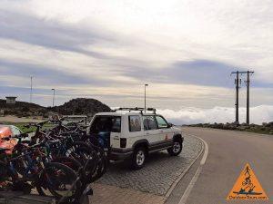 Algarve Downhill-Radtour mit dem Fahrrad Gipfel zum Meer